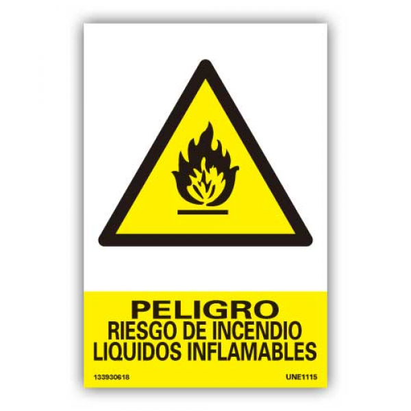 """Señal """"Peligro Riesgo de Incendio..."""""""