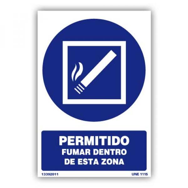 "Señal ""Permitido Fumar..."""