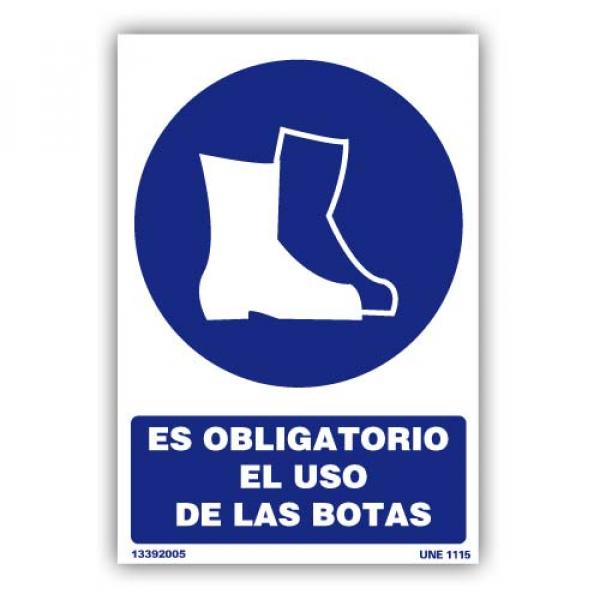 """Señal """"Es Obligatorio el Uso de las Botas"""""""