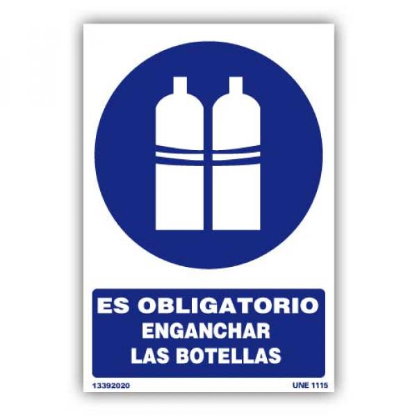 """Señal """"Es Obligatorio Enganchar las Botellas"""""""