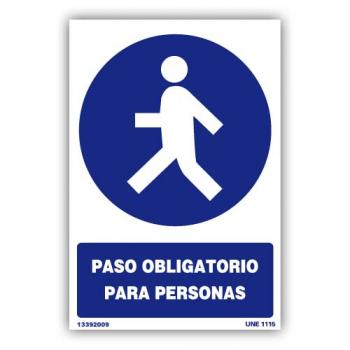 """Señal """"Paso Obligatorio..."""