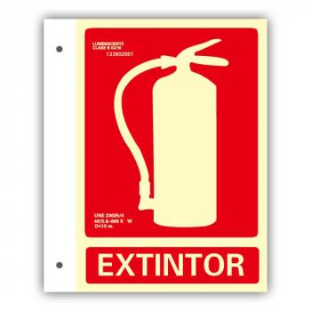 """Banderola PVC Texto """"Extintor"""" 21x30cm"""