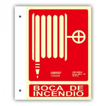 """Banderola PVC Texto """"Manguera"""" 21x30cm"""