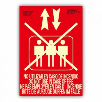 """Señal """"No Utilizar Ascensor..."""