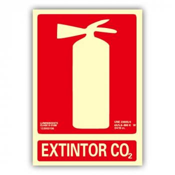 "Señal ""Extintor Co2"" 21x30cm"