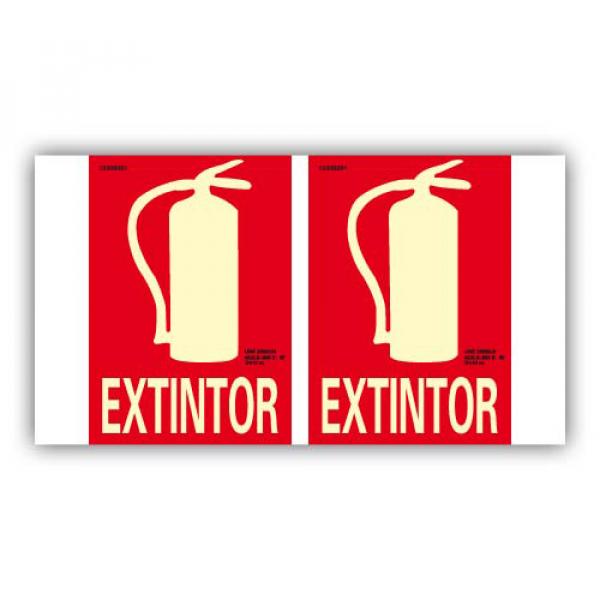 """Panorámica PVC Texto """"Extintor"""" 21x30cm"""