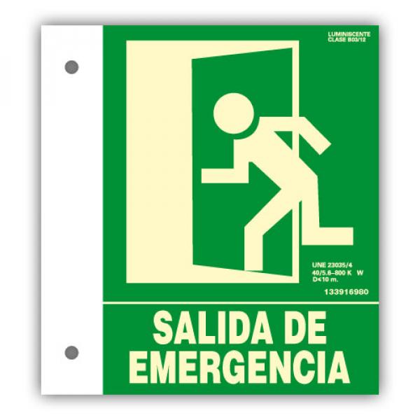 "Banderola PVC ""Salida de Emergencia"" 22x30cm"