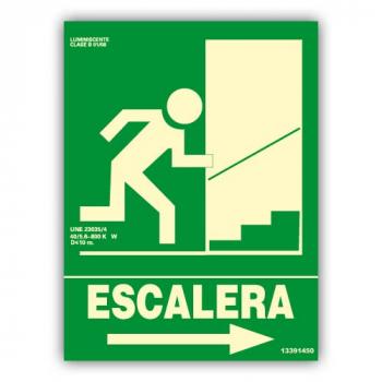 "Señal ""Escalera"" Flecha..."