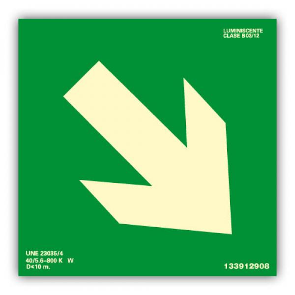 Señal Flecha Diagonal 10x10cm