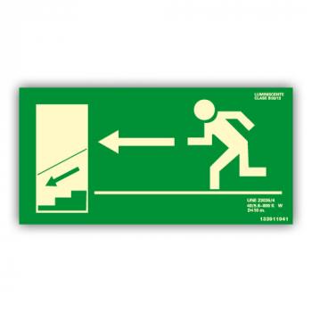Señal Salida Escaleras Izquierda Hacia Abajo...68