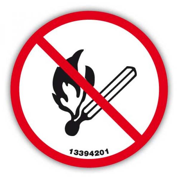 """Señal Adhesiva """"Prohibido Encender Fuego"""""""