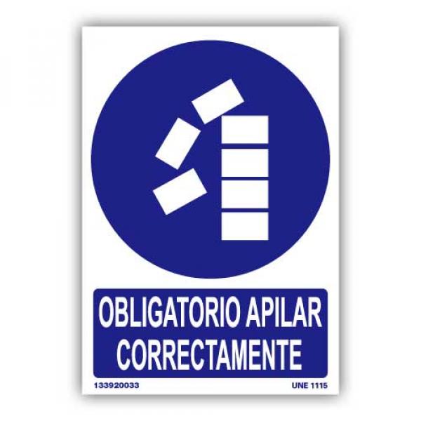 """Señal """"Obligatorio Apilar Correctamente"""""""