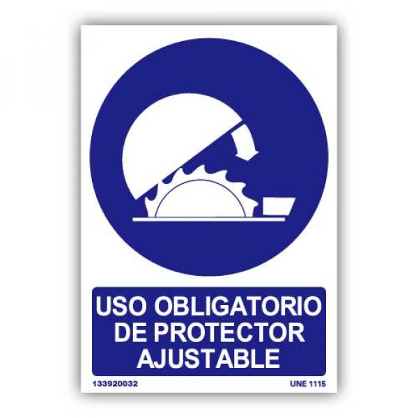 """Señal """"Uso Obligatorio Protector Ajustable"""""""