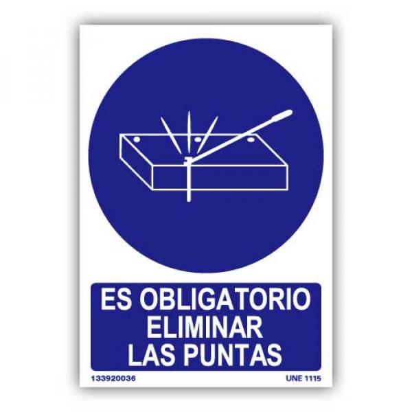 """Señal """"Es Obligatorio Eliminar las Puntas"""""""