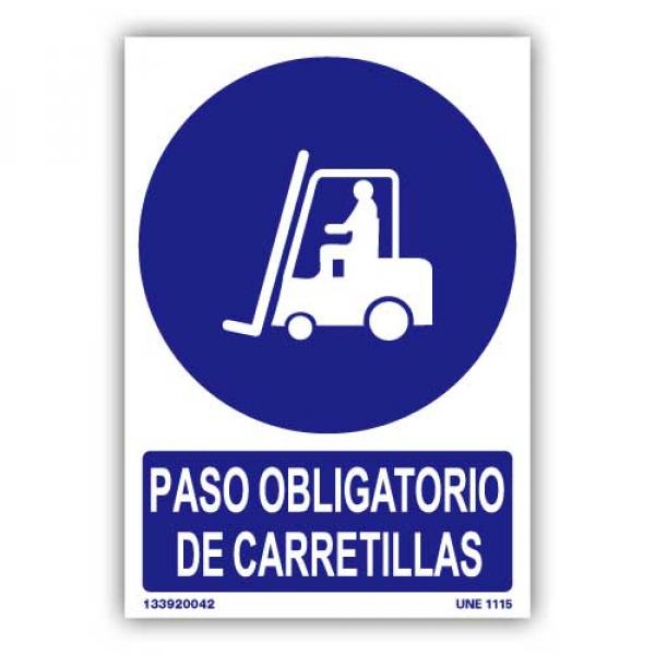 """Señal """"Paso Obligatorio de Carretillas"""""""
