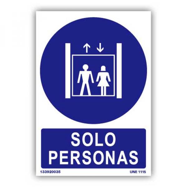 """Señal """"Sólo Personas"""""""