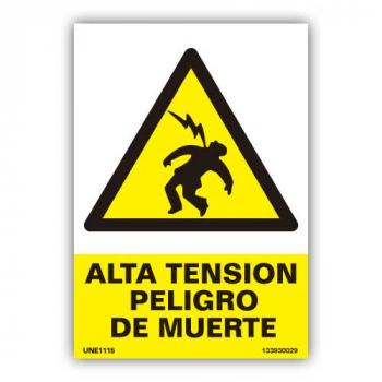 """Señal  """"Alta Tensión Peligro de Muerte"""""""