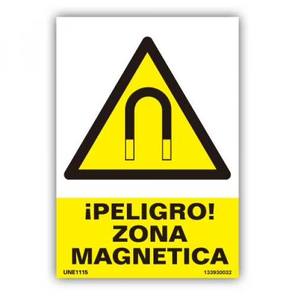 """Señal  """"Peligro Zona Magnética"""""""