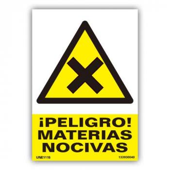 """Señal  """"Peligro Materias..."""