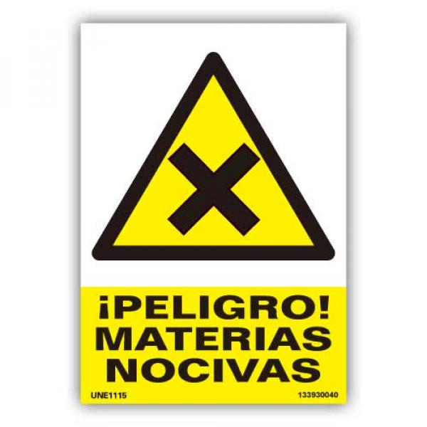 """Señal  """"Peligro Materias Nocivas"""""""
