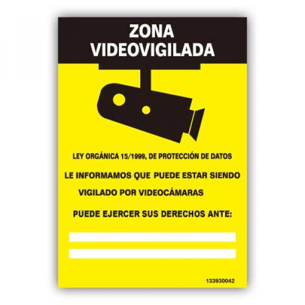 """Señal  """"Zona Videovigilada"""""""
