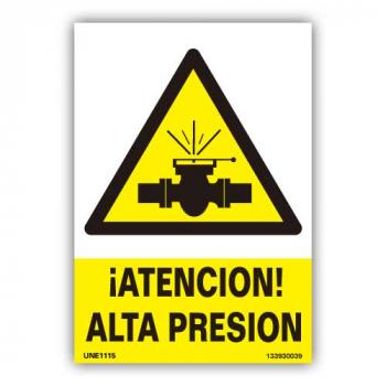 """Señal  """"Atención Alta Presión"""""""