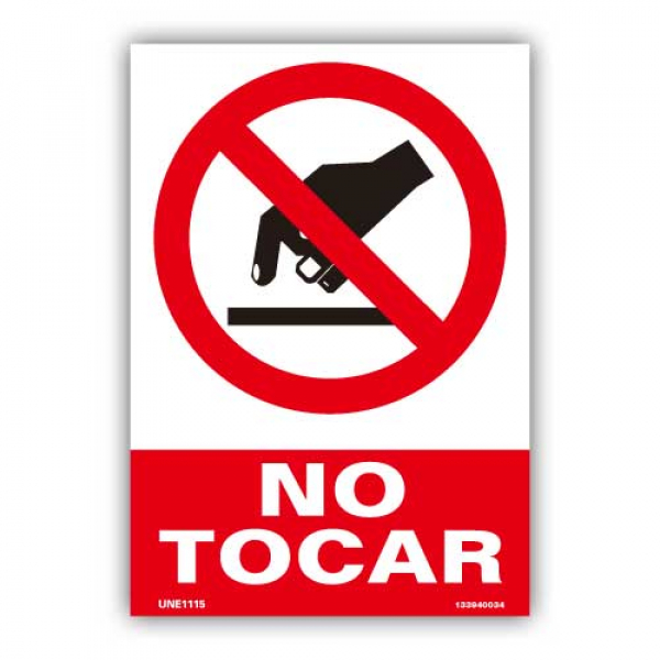 "Señal ""No Tocar"""