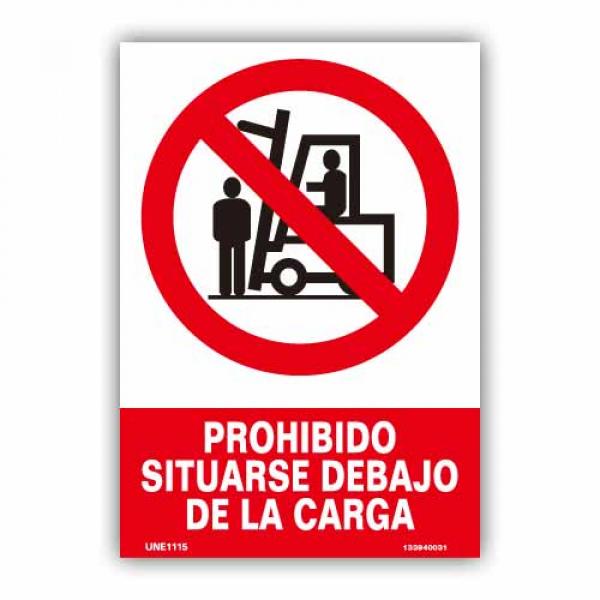 """Señal """"Prohibido Situarse Debajo..."""""""