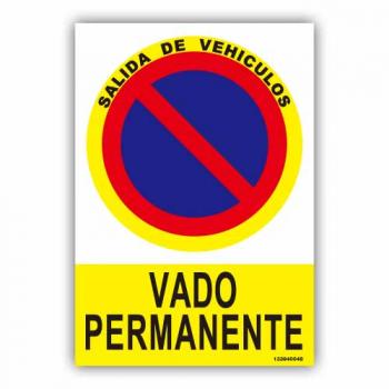 """Señal """"Vado Permanente"""""""