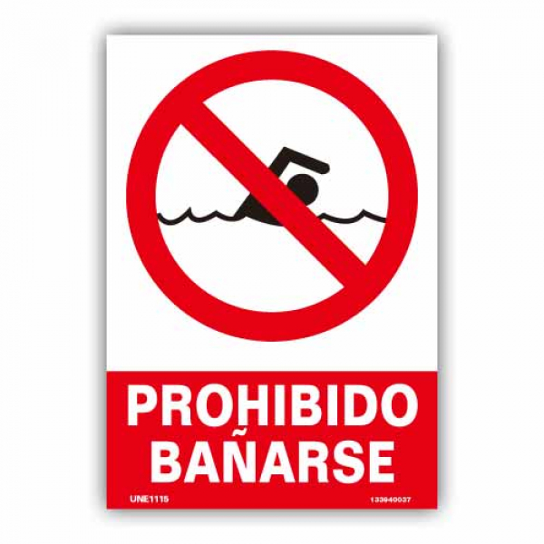"""Señal """"Prohibido Bañarse"""""""