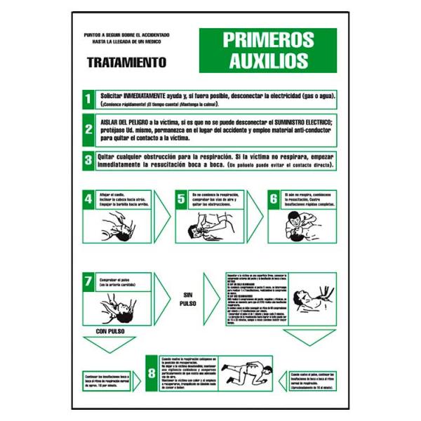 Señal Instrucciones de Primeros Auxilios