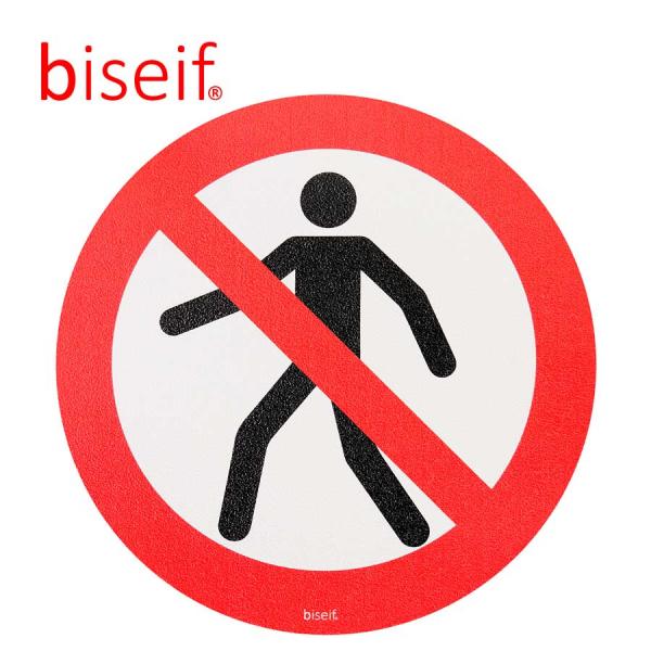 Señal Suelo Prohibido Paso a Personas