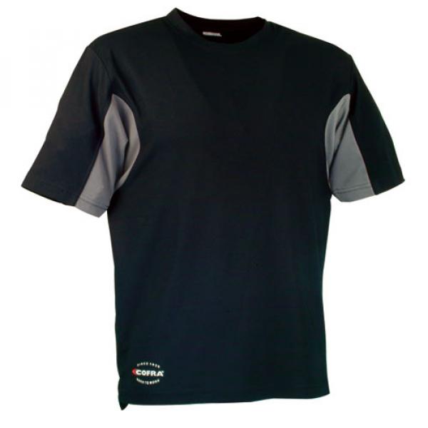 Camiseta Cofra 100% Cooldry negra/gris