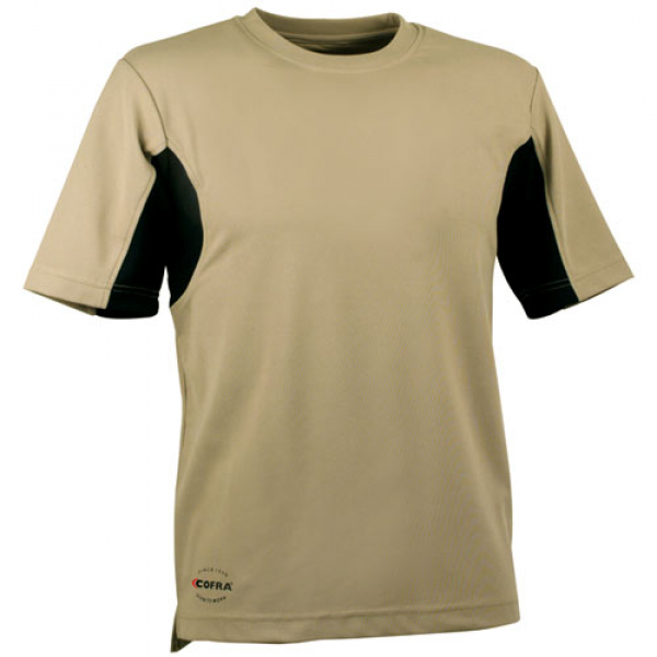 Camiseta Cofra CoolDry beige y negro