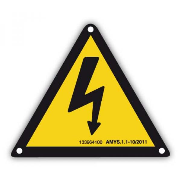 Señal adhesiva riesgo eléctrico 105mm
