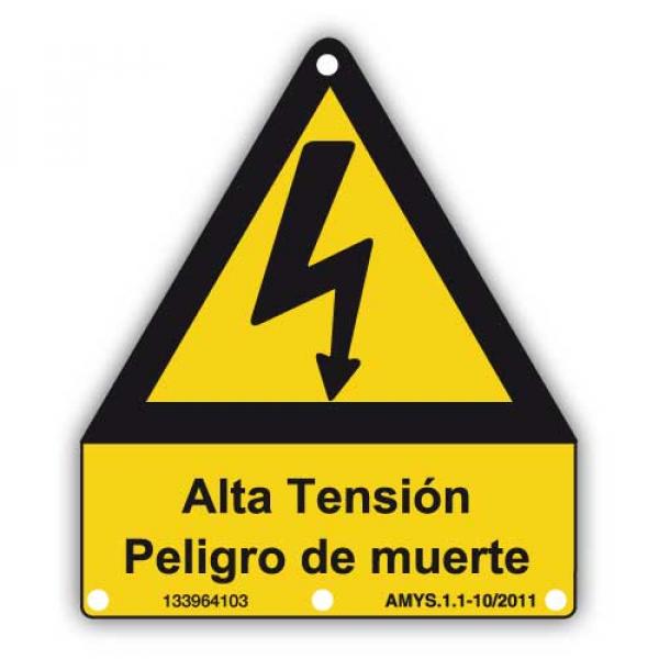 Señal adhesiva advertencia alta tensión
