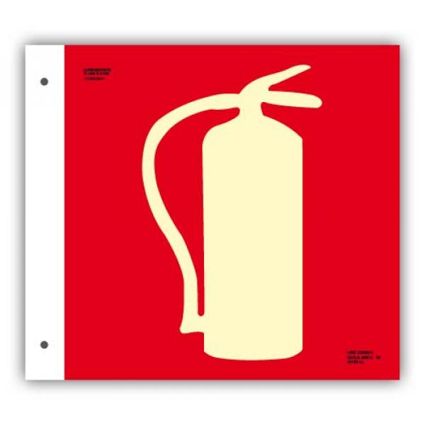 Banderola Alum. Dibujo Extintor 21x21cm