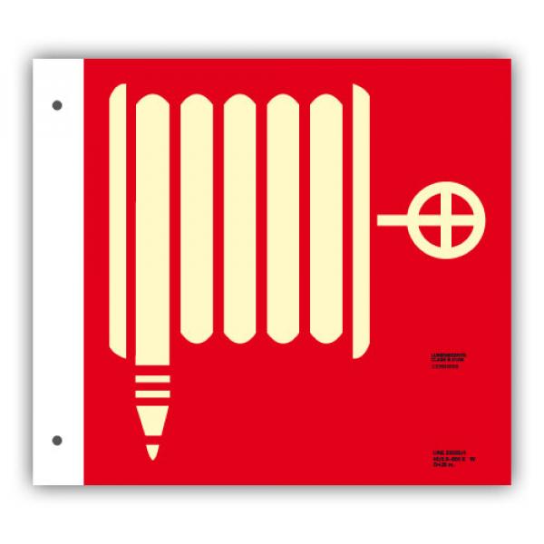 Banderola Alum. Dibujo Boca de Incendio 21x21cm