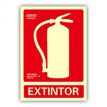 Señal Aluminio Extintor 21x30cm
