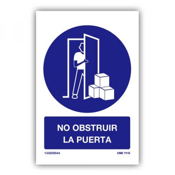 """Señal """"No Obstruir Puerta"""""""
