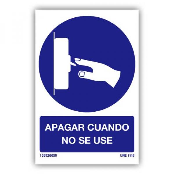 Señal Obligatorio Apagar Cuando No Se Use