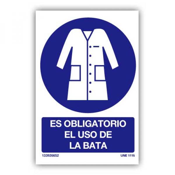 """Señal """"Es Obligatorio el Uso de la Bata"""""""