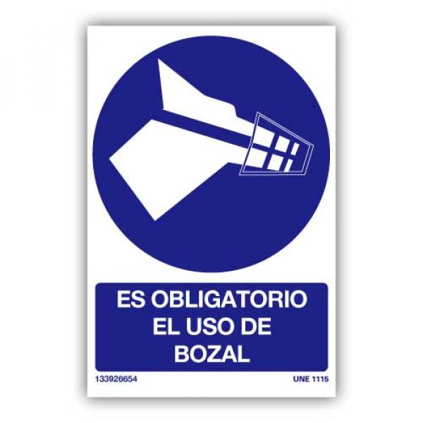 """Señal """"Es Obligatorio el Uso del Bozal"""""""