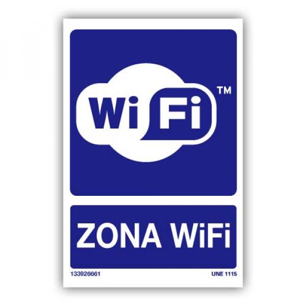 Señal Obligatorio Zona Wifi