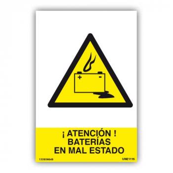 Señal ¡Atención Baterías en...