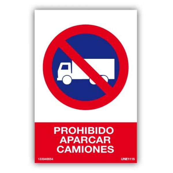 Señal Prohibido Aparcar Camiones