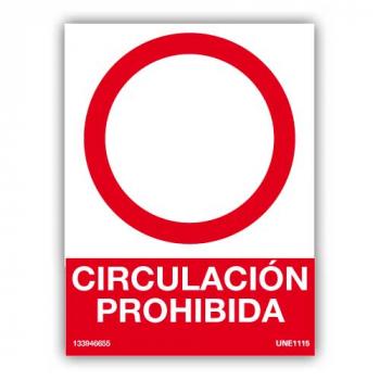 Señal Circulación Prohibida00