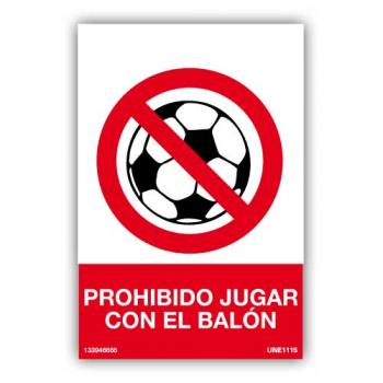 Señal Prohibido Jugar Con El Balón