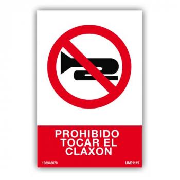 Señal Prohibido Tocar El Claxon10