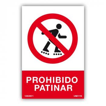 Señal Prohibido Patinar